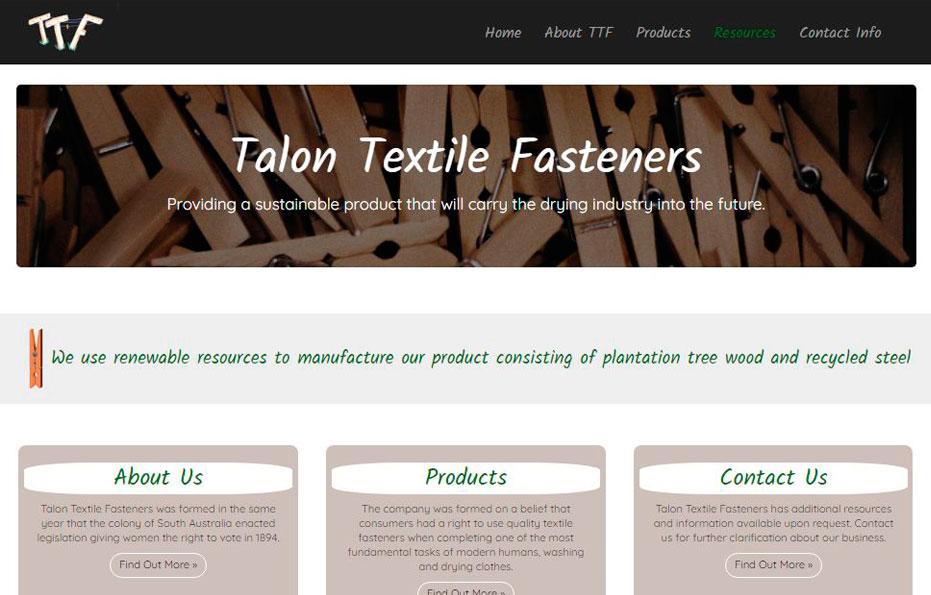 Talon Textile Fasteners